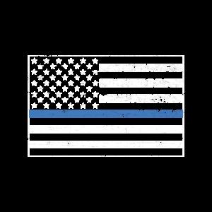 Polizei Thin Blue Line vintage