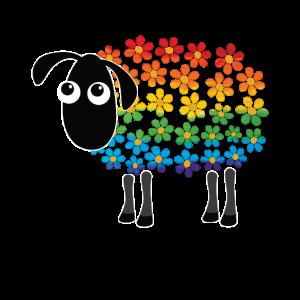 LGBT Schaf Gay pride rainbow flag CSD Geschenk