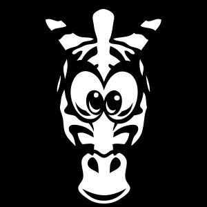 Zebrakopf Tierzeichnung Kind 17