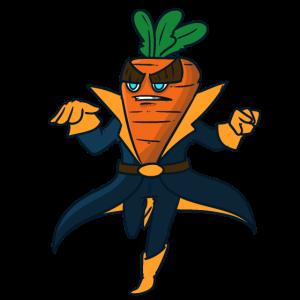 Superhero Carrot Superheld Möhre