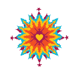Herz T-Shirt Farbverlauf Herzmuster