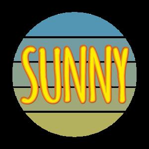 Sunny 5 farbiger Kreis Sonnig Sonne Sonnenschein