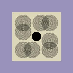 Geometrische Mid Century Modern Komposition