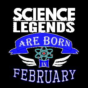Wissenschaftslegenden werden im Februar Jungen geboren