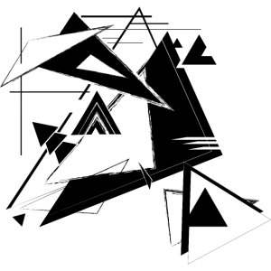 Schwarz-Weiss Dreiecks-Galaxi Abstraktes Universum