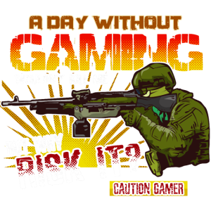 A Day Without Gaming HARIZ Gamer Gaming Geschenk