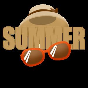 Sommerhut Sonnenbrille Sommer Geschenk