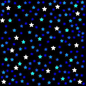 Bunte Sterne Sternenhimmel Muster Geschenkidee