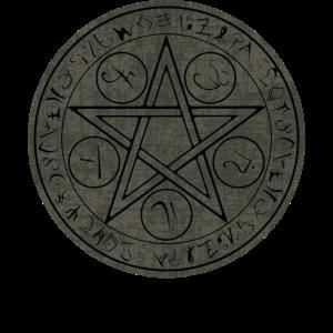 Pentagramm Runen Wicca Hexen Symbol Okkult