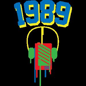 1989 Walkman bunt 80tees