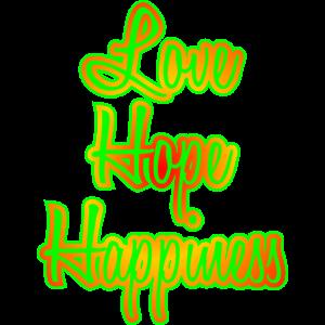 Liebe Hoffnung Glück Geschenk
