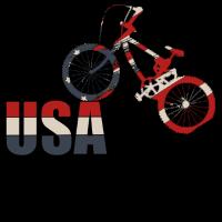 USA FLAGGE FAHRRAD