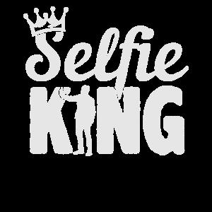 SelfieKing White Krone Selfi Kamera Mann König