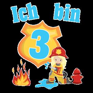 Mädchen 3.Geburtstag Feuerwehr Kinder Geschenk