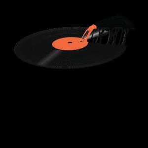 Vinylaufzeichnung Pizza Vintage Music Art