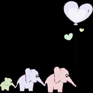 Elefanten nit Luftballon