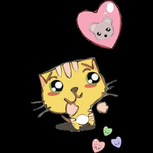 Katze mit Luftballon