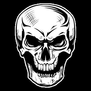 Skull grimmiger Schädel lacht