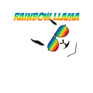I AM THE RAINBOW LLAMA OF MY FAMILY GAY PRIDE LGBT