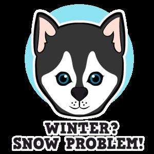 Winter Schnee Hund Husky Spruch Damen Herren