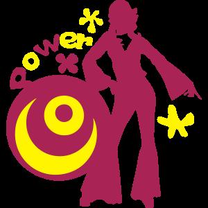 70er Jahre Disco Frieden Liebe Kraft