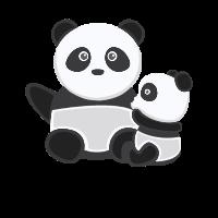 Babypanda Baby Pandas Geschwister Kleiner Großer