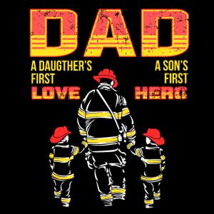 Firefighter Dad Feuerwehrmann Vater Feuerwehr Papa