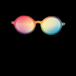 Bunte Sonnenbrille