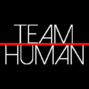 Team Human, Team Mensch Schrift minimalistisch