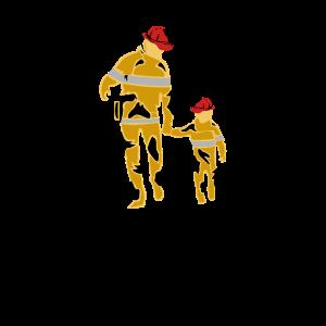 Papa Sohn Bei Feuerwehr Vater und Sohnemann