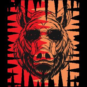 Wildschwein Sonnenbrille