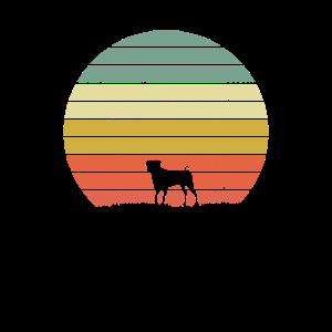 Mops-Retro Sonnenuntergang-Hundeliebhaber