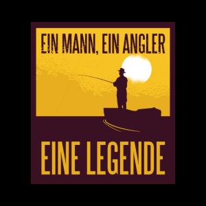 Angler Legende Angeln Spruch