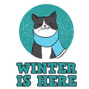 Winter Schnee Katze Winter is Here Damen Herren
