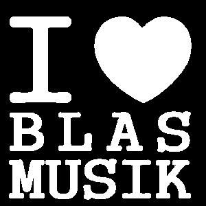 I love Blasmusik White Edition