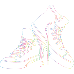 Sneaker Regenbogen