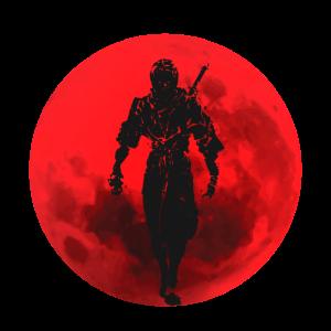 Ninja Warrior Red Moon Japan Schwertgürtel