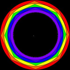 Regenbogen Kreise