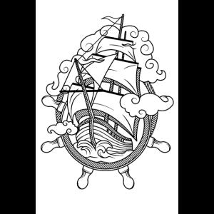 Schifffahrt See Boot Schiff Pirat Kapitän