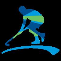 Hockeyplayer blaugruen