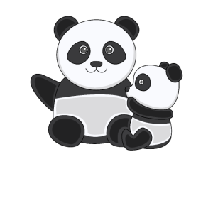 Pandas Pandabärchen Kuscheln Kuschelnde Kawaii Süß