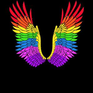 LGBTQ - CSD ENGELSFLÜGEL FLÜGEL GAY SCHWUL