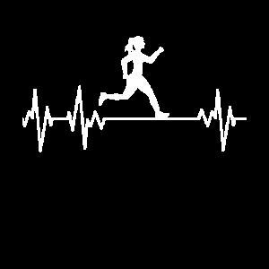 Läuferin Leidenschaft EKG Herzschlag Lauf Sport