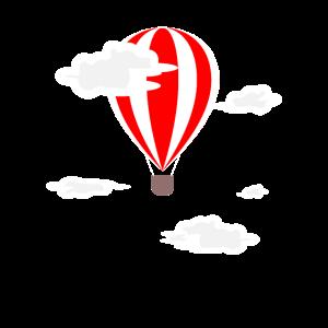 Heißluftballon Ballon Wolken Geschenk
