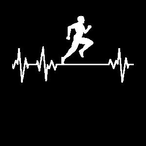 Läufer Leidenschaft EKG Herzschlag Lauf Sport Lauf