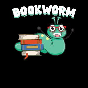 Bücherwurm Bücherei Literatur Lesen Bücher