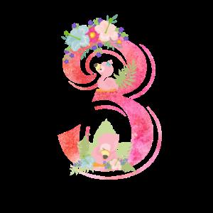 3. Geburtstag Flamingo Girl Kinder Baby 3th