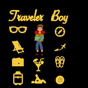 Reisender Junge