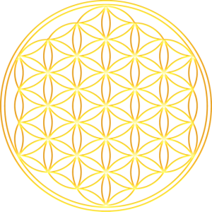 Blume des Lebens Gold Harmonie Balance Yoga Symbol