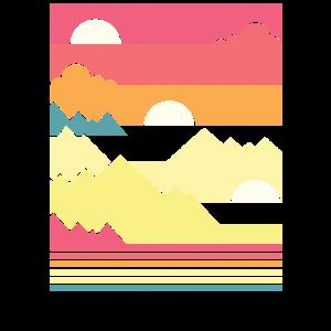 Geometric Sunset - Geometrischer Sonnenuntergang